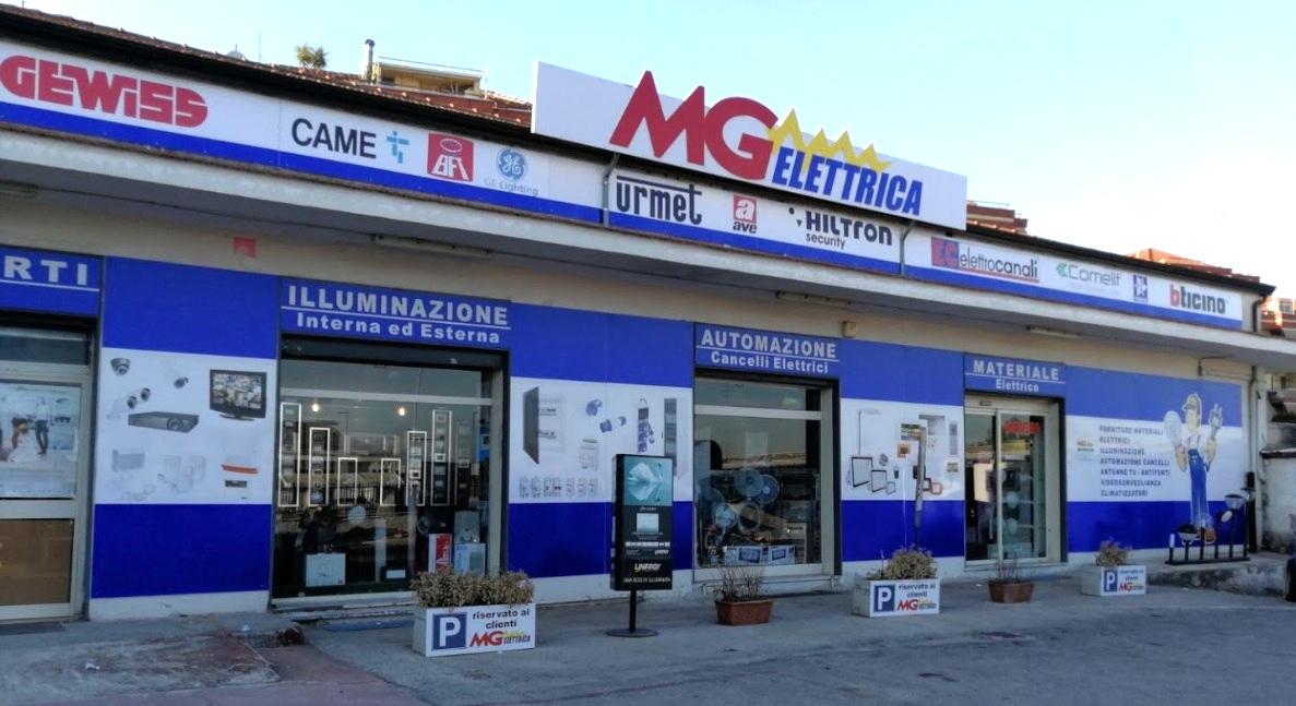 MG elettrica esterno negozio