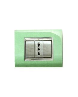 Placca Prestige verde pastello 3 posti
