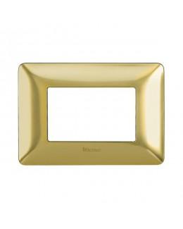 Placca 3 moduli oro satinato MATIX