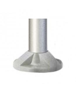 Base per palo 60 mm grigio metallizzato