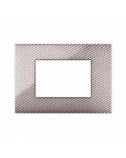 Placca in plastica AVE Young colore carbon chiaro 3D