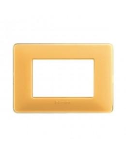 Placca 3 moduli ambra MATIX