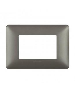 Placca 3 moduli iron MATIX