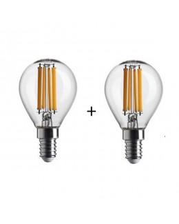 Lampada filo led sfera stick 4W E14 conf.2
