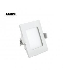 Faretto  incasso quadro LED 9 W 4000K