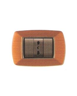 Placca coprinterruttori legno chiaro