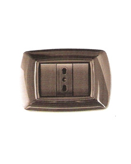 Placca coprinterruttori grigio scuro
