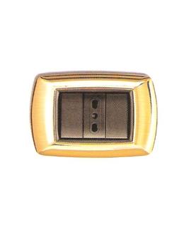 Placca coprinterruttori oro