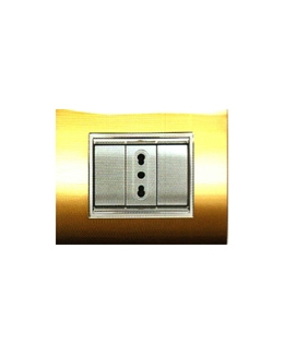 Placca Prestige oro 3 posti