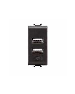 Alimentatore doppio USB Chorus nero